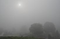 Tågen hindrede det store overblik. Men gav til gengæld en diffus og mystisk stemning.
